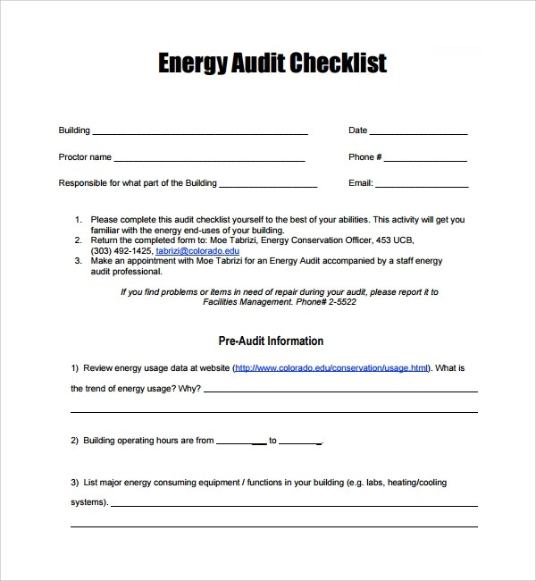 Sample Audit Checklist Template - 13+ Free Documents in PDF - audit checklist template