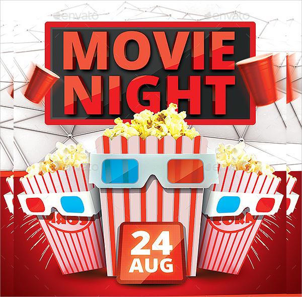 17+ Movie Night Flyer Templates Sample Templates