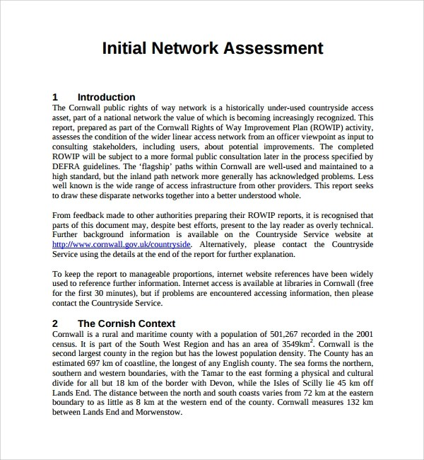 10+ Network Assessment Templates Sample Templates