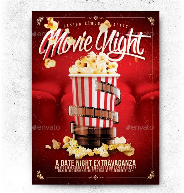 movie night flyer templates xv-gimnazija