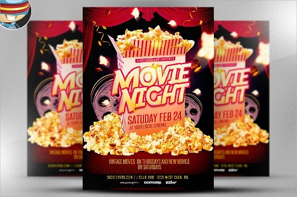 Movie Night Flyer Template - 16+ Download In Vector EPS, PSD