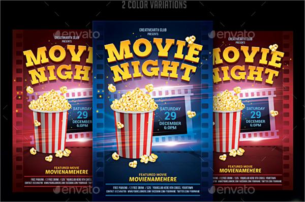 movie night flyer template dzeo - movie night flyer template