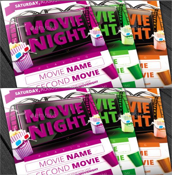 Movie Night Flyer Template - 16+ Download In Vector EPS, PSD - movie night flyer template