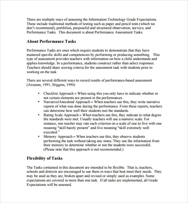 Needs assessment paper - needs assessment example