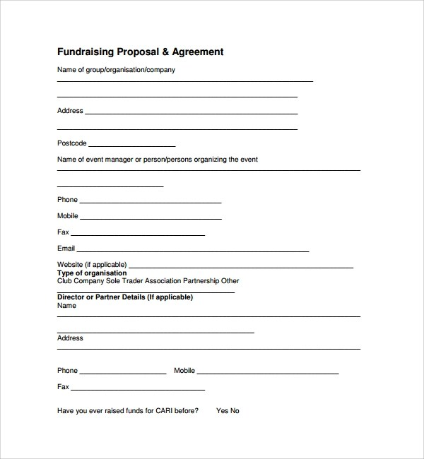 Fundraising Proposal Template Fundraising Proposal Sample Basic - fundraising proposal template