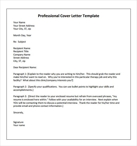 occupational therapy cover letter template