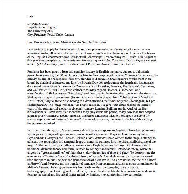 cover letter for university staff job