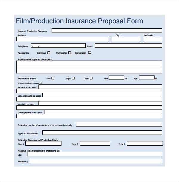 16+ Film Proposal Templates \u2013 PDF, Word Sample Templates - proposal form template