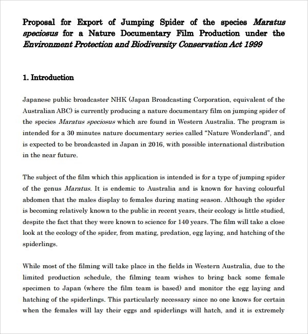 16+ Film Proposal Templates \u2013 PDF, Word Sample Templates