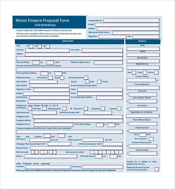16+ Financial Proposal Templates Sample Templates