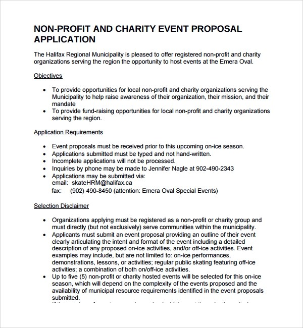 Sample Non Profit Proposal Template - 7+ Free Documents in PDF - non profit proposal template