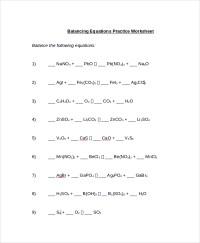 10+ Balancing Equations Worksheet Templates | Sample Templates