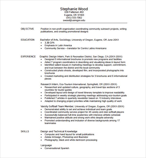 resume photographer pdf