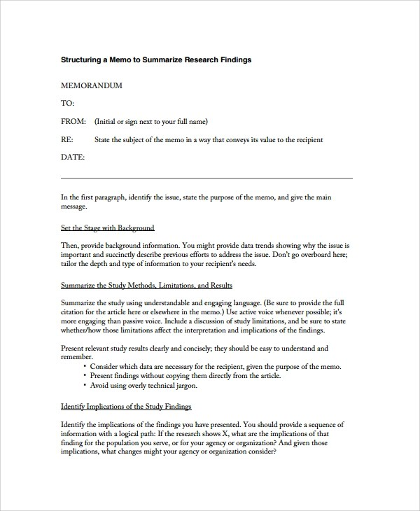 8+ Formal Memo Templates Sample Templates - how to sign a memo