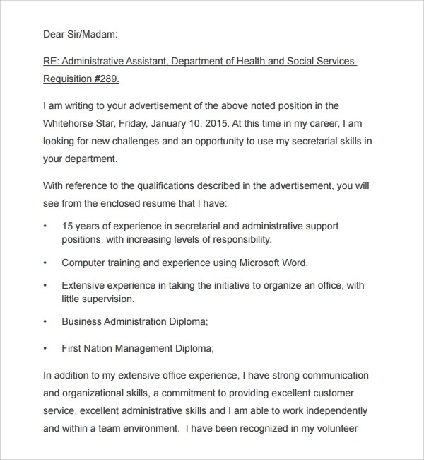 Sample Photography Cover Letter - 6+ Free Documents in PDF