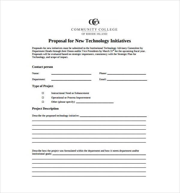 8+ Technology Proposal Templates Sample Templates