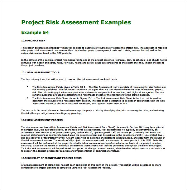 project risk assessment template - Josemulinohouse