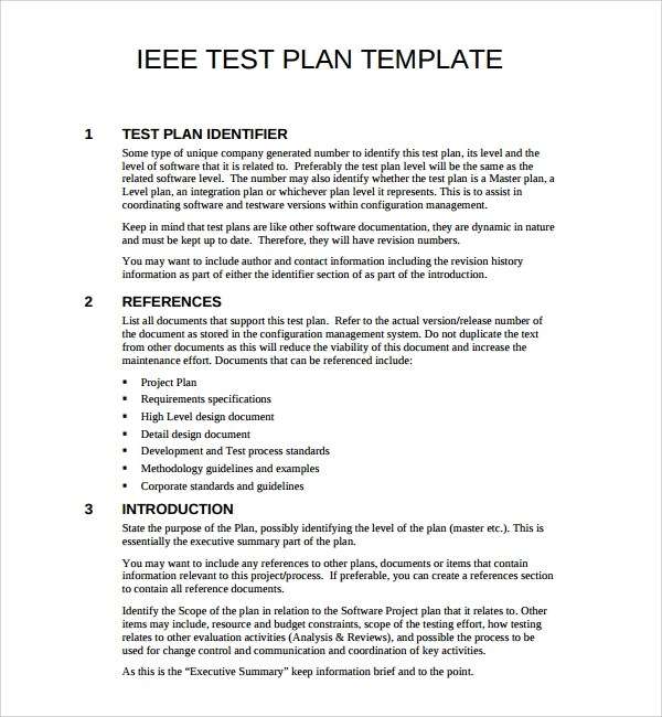 9 software test plan templates sample templates