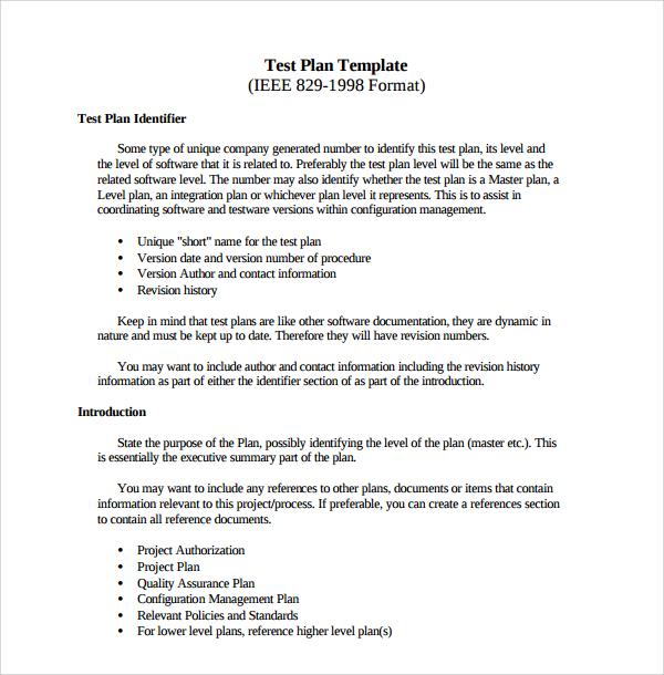 9+ Software Test Plan Templates Sample Templates