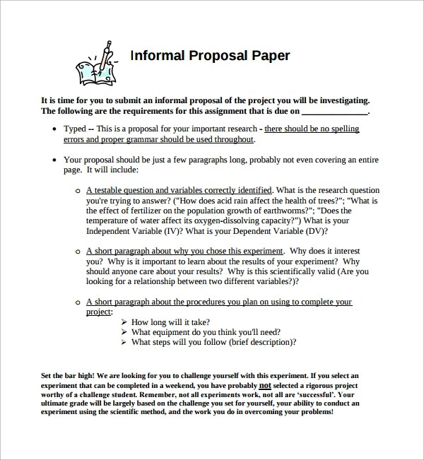 6+ Informal Proposal Templates Sample Templates - informal proposal