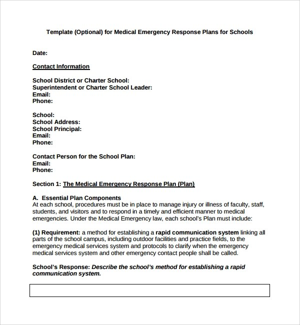 Emergency Response Plan Template Peccadillous - Business emergency plan template