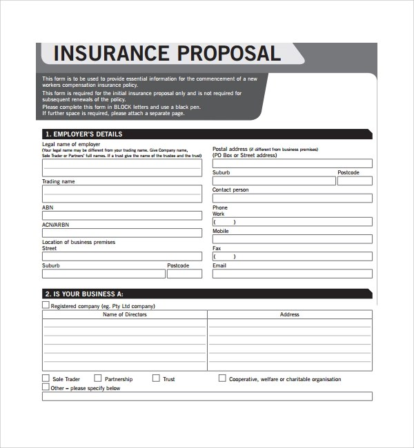 Sample Insurance Proposal Template - 13+ Free Documents in PDF, Word