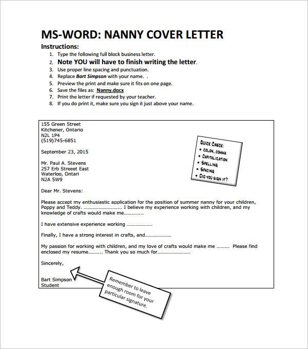 short cover letter templates