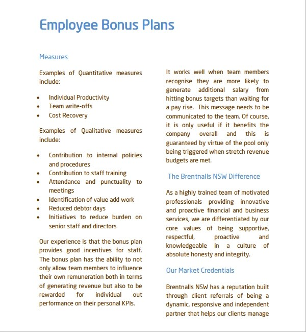 Sample Employee Bonus Letter | Attaching Cover Letter And Resume