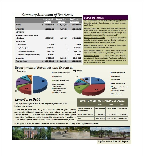 10+ Annual Financial Report Templates Sample Templates - annual report template
