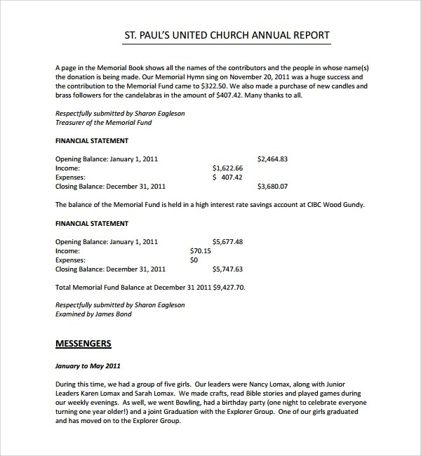 Church Financial Report Template | Scholarship Bursary Letter