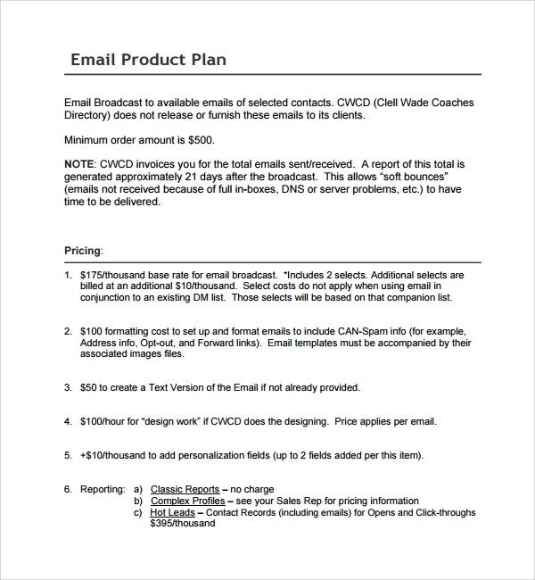 12+ Product Plan Templates Sample Templates
