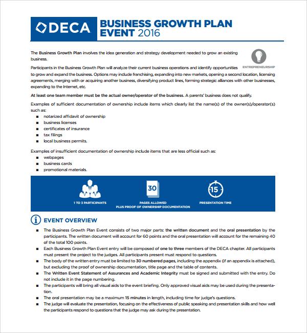 9+ Growth Plan Templates Sample Templates