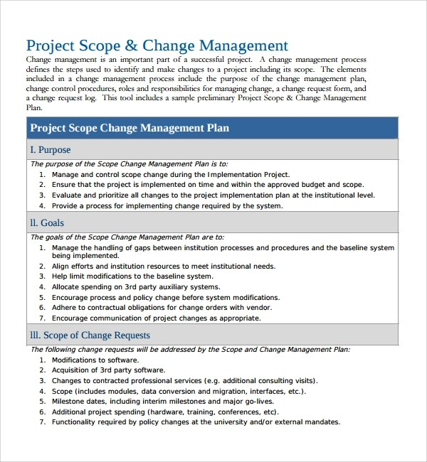 Organizational Change Management Template | Sample Customer ...
