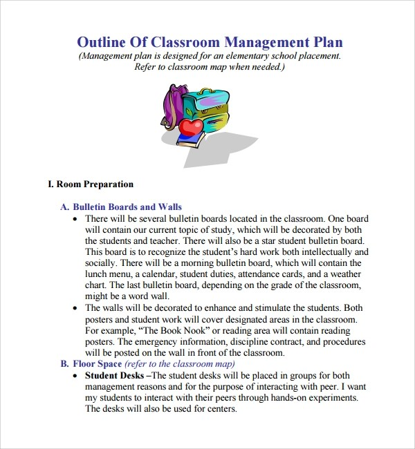 Writing A Business Plan Pdf United States Department Of Sample Classroom Management Plan Template 9 Free