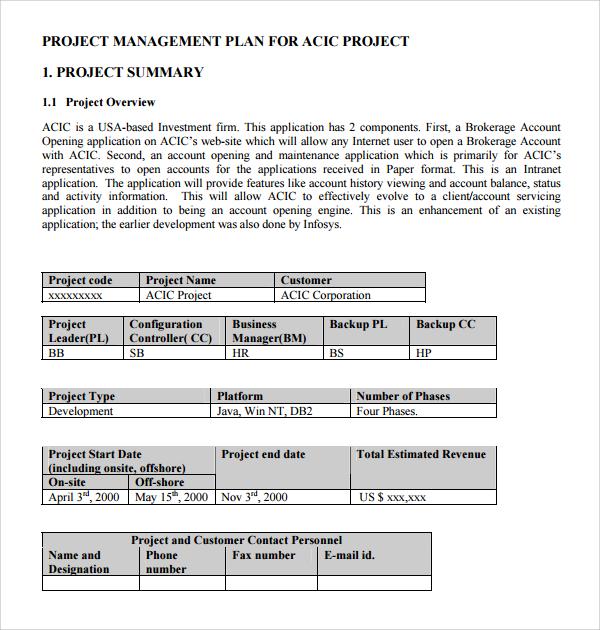 9+ Configuration Management Plan Templates Sample Templates - management plan template