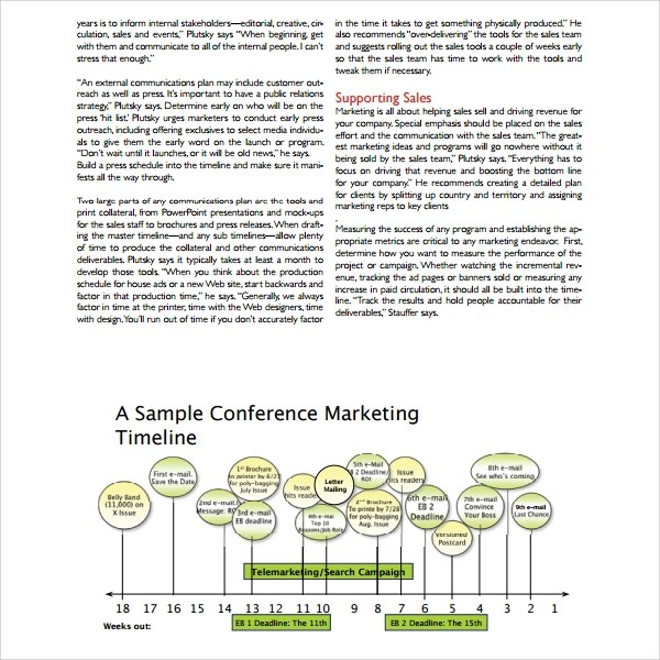 Sample Marketing Timeline Template - 12+ Free Documents in PDF, Word - marketing campaign template word