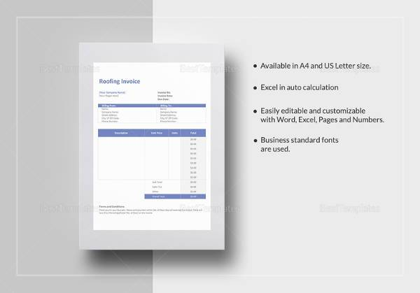 25 Free Service Invoice Templates Billing In Word And Excel 25 Free