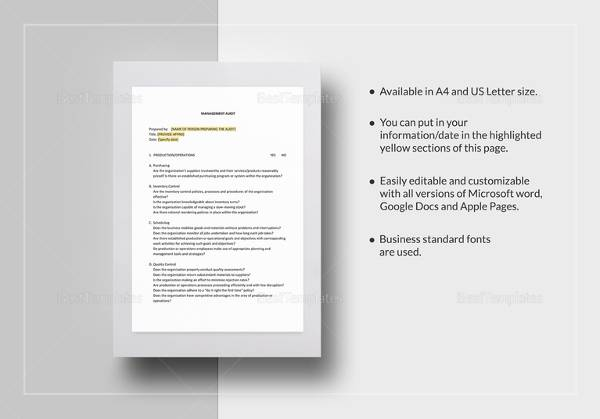 Sample Audit Checklist Template - 13+ Free Documents in PDF - audit form templates