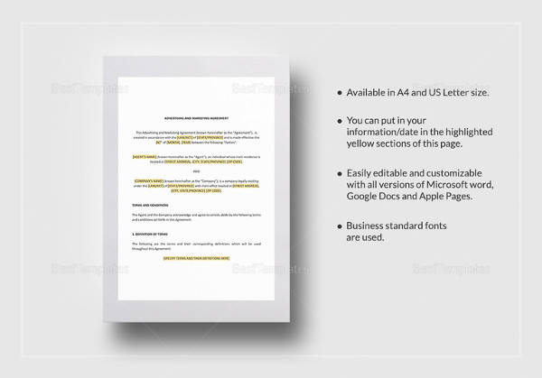 13+ Marketing Consulting Agreement Samples Sample Templates - marketing agreement template