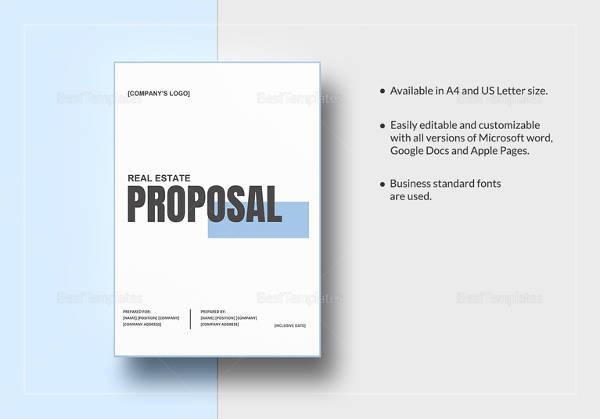 Sample Real Estate Proposal Template - 9+ Free Documents Download - real estate proposal template