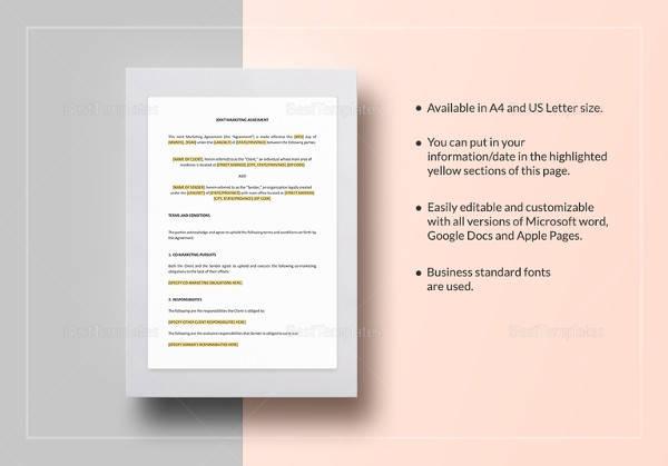 Marketing Agreement Template Gallery - Template Design Ideas