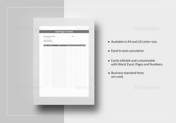 Sample Employee Sign in Sheet - 15+ Free Documents Download in Word