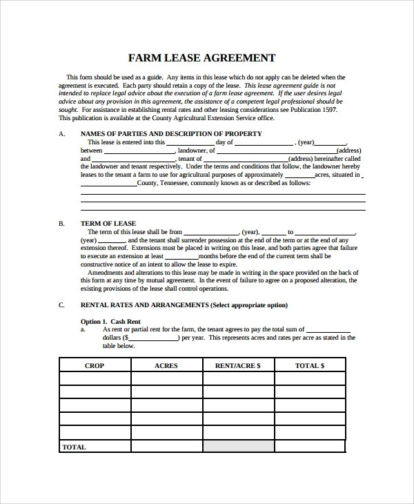 Lease Agreement Equipment Template | Create Professional Resumes