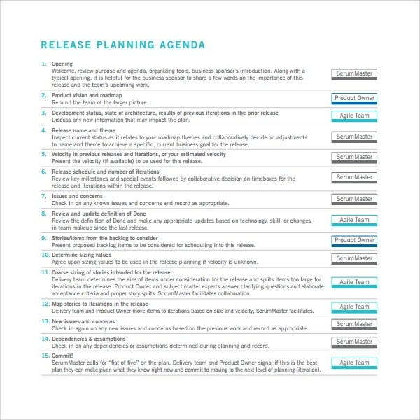 Release Plan Template Release Plan Template Excel Production