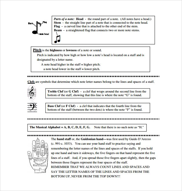 Sample Musical Note Template - 9+ Free Documents in PDF, Word