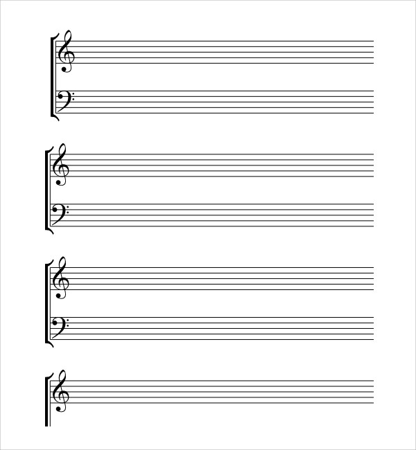 10+ Musical Note Templates Sample Templates - note paper template