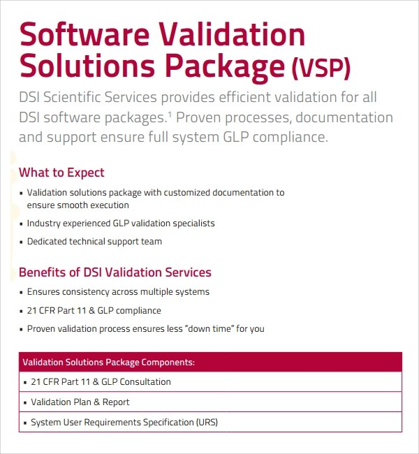 9+ Sample Validation Plan Template - Free Documents in PDF, Word