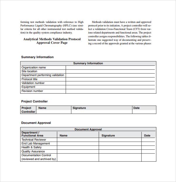 10+ Validation Plan Templates Sample Templates