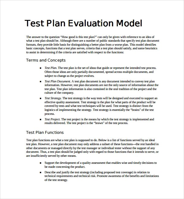 Employee Appraisal Form Template Biztree Sample Testing Plan Template 8 Free Documents In Pdf Word