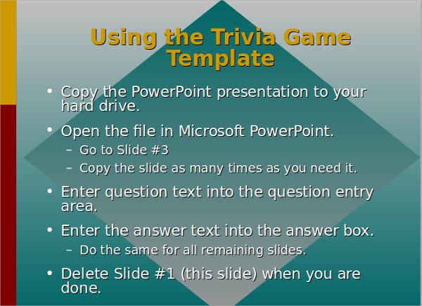 √ 9+ Trivia PowerPoint Templates